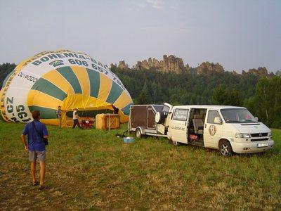 Madair - vyhlídkový let balonem z filmu Vratné lahve